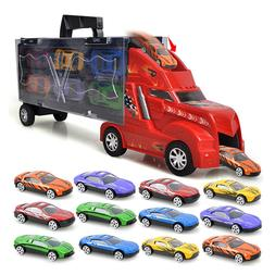 1:35 Scale Portable Design Carrier Truck Toys Plastic Body T