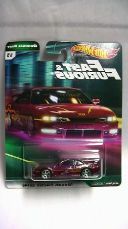 HOT WHEELS 1/64 FAST & FURIOUS ORIGINAL FAST  NISSAN 240SX S