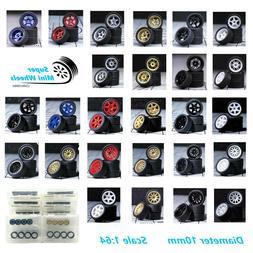1/64 Scale Wheels & Tire - Custom Hot Wheels, Matchbox,Tomy,
