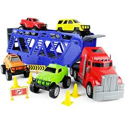 Boley 5-in-1 Big Rig Hauler Truck Carrier Toy Complete Trail