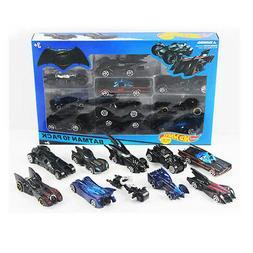 10pcs Hot Wheels DC Comics Batman Batmobile Diecast Car Mode