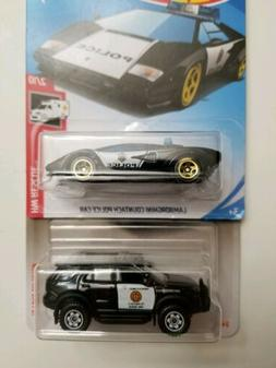 Matchbox '12 Ford Explorer Police & Hot wheels Lamborghini p