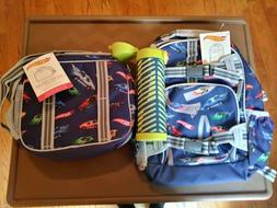 $128 Pottery barn HOT WHEELS BACKPACK  + LUNCH BOX + WATER B