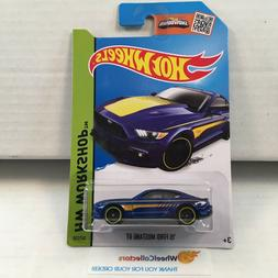 '15 Ford Mustang GT #247 * BLUE * 2015 Hot Wheels * E17