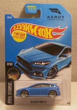HOT WHEELS '16 Ford Focus RS NIGHTBURNERZ FORZA Blue NEW 201