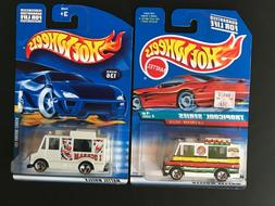 Hot Wheels 1998 & 2001 Ice Cream Truck ~ NEW ~ FREE SHIPPING
