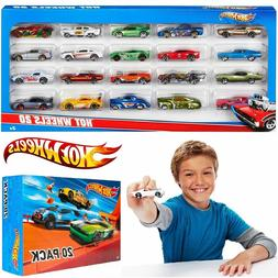 20 Hot Wheels Cars Toys Gift for Kids Track Builder Race Car