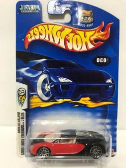 2003 HOT WHEELS FIRST EDITION 18/42 BUGATTI VEYRON RED AND B