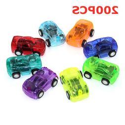 200pcs/lot Mini Diecast Cars Pull Back Transparent Plastic <