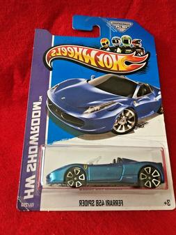 2013 Hot Wheels: Ferrari 458 Spider  151/250   X1983  Blue