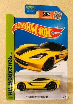 2015 Hot Wheels '14 Corvette Stingray Yellow HW Workshop