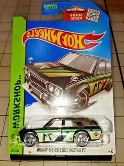 2015 Hot Wheels 1971 Datsun Bluebird 510 Wagon Black HW Work