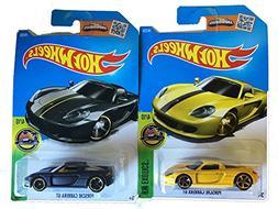 Hot Wheels 2016 HW Exotics Porsche Carrera GT Yellow and Fla