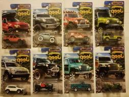 Matchbox 2016 JEEP ANNIVERSARY EDITION Complete Set OF 8 FRE