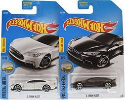 Hot Wheels 2017 Factory Fresh Tesla Model S 6/10, Set of 2,