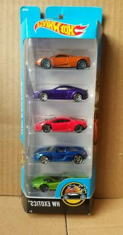 Hot Wheels 2017 HW Exotics 5-Pack Porsche, Pagani, Lamborghi