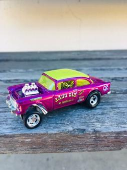 2018 Hot Wheels 50TH Anniversary Pink '55 Chevy Bel Air Ga