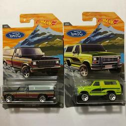 2018 Hot Wheels '79 Ford Truck Series w/Cab + Bronco 4x4 Wal