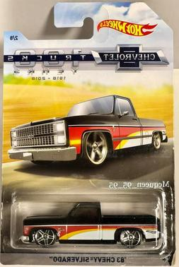 2018 Hot Wheels Chevrolet Trucks 100 years  '83 Chevy Silver