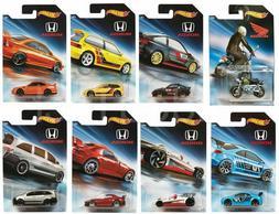Hot Wheels 2018 Honda Series. Full Set Of 8 Cars. Walmart Ex