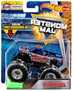 2018 Hot Wheels Monster Jam 1:64 Scale Truck with Re-Crushab
