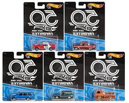 2018 Hot Wheels 50th Anniversary Favorites Series Set of 5 1