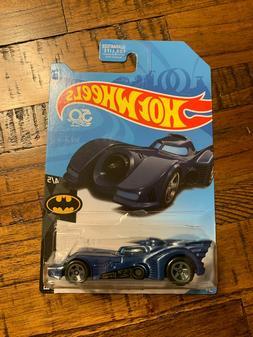 2018 Hot Wheels TREASURE HUNT Batman 4/5 BATMOBILE Blue w/Gr