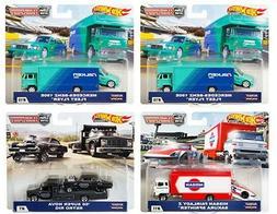2019 Hot Wheels Car Culture Team Transport Case D Set of 4,