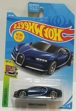 2019 Hot Wheels Exotics '16 Bugatti Chiron Blue 236