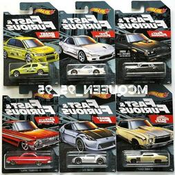 2019 HOT WHEELS FAST & FURIOUS COMPLETE SET OF 6 WALMART EXC