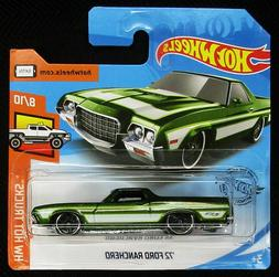 Hot Wheels 2019 HW Hot Trucks Green '72 Ford Ranchero #8/10