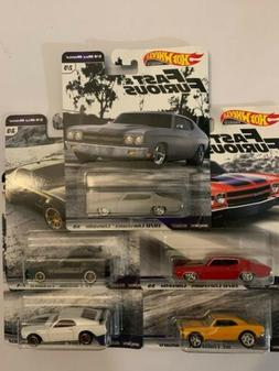 2019 HOT WHEELS Premium Fast & Furious 1/4 Mile Muscle Compl
