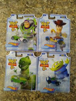 2019 Hot Wheels Toy Story 4 Car set Alien, Buzz, Woody, Rex