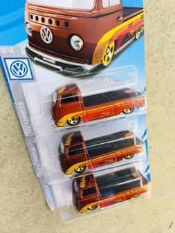 2019 HOT WHEELS VW VOLKSWAGEN T2 PICKUP ROOTBEER NON SUPER L