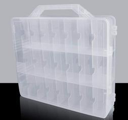 48 Slot Storage Case Thread Bead Jewel Organizer Spools Nail