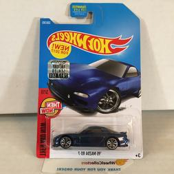 '95 Mazda RX-7 #336 * Blue * 2017 Hot Wheels FACTORY SET * H