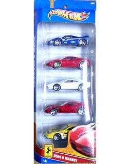 Hot Wheels 5 Car Gift Pack - Ferrari