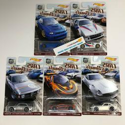 5 Car Set * Hot Wheels CARS & DONUTS Car Culture G Case * B4