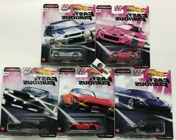 5 Car Set QUICK SHIFTERS * 2020 Hot Wheels Fast & Furious Ca