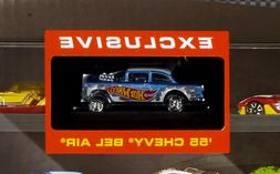 HOT WHEELS 50 CAR DISPLAY CASE WITH 55 CHEVY GASSER GND88 -