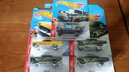 Hot Wheels '55 Chevy Bel Air Black Yellow Kmart Green And Ga