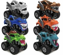 JOYIN 6 Pack Monster Friction Powered Truck Vehicles Big Tir