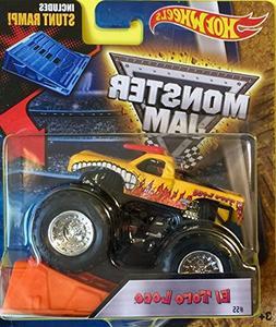 Hot Wheels 2016 1:64 Monster Jam Trucks w/ Ramp #55 EL TORO