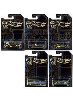 Hot Wheels 50th Anniversary 1:64 Black & Gold Series 5pcs Di