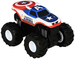 Hot Wheels Monster Jam Rev Tredz Captain America Die-Cast Ve