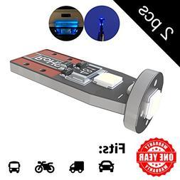 LED Monster 2-Pack Blue 3-SMD LED Bulbs for License Plate Li