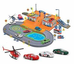 Liberty Imports Super Parking Garage Diecast Racing Playset