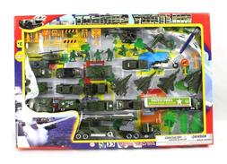 Metro Army Military Combat 43 Piece Mini Toy Diecast Vehicle