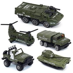 Army Vehicle Toy Set Diecast Military Model Cars Metal Army