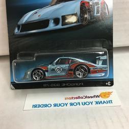BAD CARD * Porsche 935-78 * Light Blue * Hot Wheels Porsche